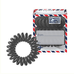 Invisibobble Letter from Grey - Резинка-браслет для волос, 3 штуки