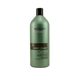 Redken Mint Clean Shampoo - Тонизирующий шампунь для волос и кожи головы 1000 мл
