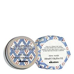 Davines More inside Strong Dry Wax - Сухой воск для текстурных матовых акцент 100мл