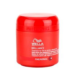 Wella Brilliance Line - Крем-маска для окрашенных жестких волос 150 мл