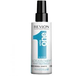 Uniq One Lotus Flower Hair Treatment - Несмываемая маска-спрей для волос, 150 мл