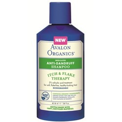 Avalon Organics Medicated Anti-Dandruff Shampoo - Шампунь против перхоти, 400 мл