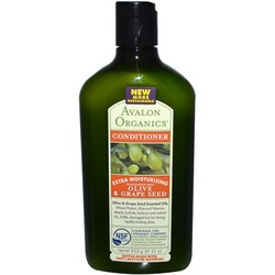 Avalon Organics Olive and Grape Seed Extra Moisturizing Fragrance Free Conditioner - Кондиционер,Олива и виноградная косточка, 325мл