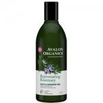 Avalon Organics Rejuvenating Rosemary Bath Shower Gel - Гель для ванны и душа с маслом розмарина, 355 мл