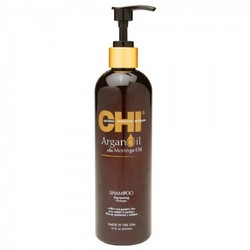 CHI Argan Oil Plus Moringa Oil Shampoo - Восстанавливающий шампунь с маслом арганы, 355 мл.
