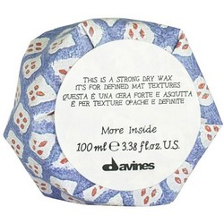 Davines More Inside Strong Dry Wax - Воск сухой для текстурных матовых акцентов, 75 мл