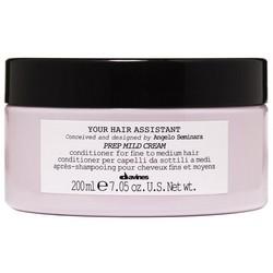 Davines Your Hair Assistant Prep Mild Сream - Мягкий кондиционер для подготовки волос к укладке для тонких и нормальных волос, 200 мл