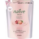 Kanebo Naive Shampoo - Шампунь, Персик и масло шиповника,(сменный блок), 400 мл.