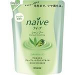 Kanebo Naive Shampoo - Шампунь восстанавливающий, Алоэ и масло виноградных косточек, (сменный блок), 400 мл.