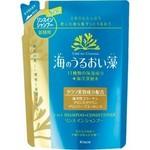 Kanebo Umi No Uruoiso 2-In-1 Shampoo-Conditioner - Шампунь и бальзам-ополаскиватель 2-в-1, Морские водоросли и минералы (сменный блок), 400 мл.