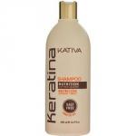 Kativa Keratina Shampoo - Шампунь укрепляющий для всех типов волос с кератином, 500 мл