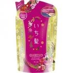 Kracie Ichikami - Бальзам-ополаскиватель для объема поврежденным волосам с ароматом граната, сменный блок, 360 мл