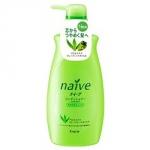 Kracie Naive Aloe&Grape Oil Shampoo - Шампунь для нормальных волос, Алоэ и Виноградные косточки, 550 мл.