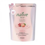 Kracie Naive Peach&Rosehip Oil Shampoo Pack - Шампунь для сухих волос, Персик и масло шиповника, 400 мл.