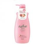 Kracie Naive Peach&Rosehip Oil Balsam - Бальзам-ополаскиватель для сухих волос, Персик и Шиповник, 550 мл.