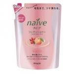 Kracie Naive Peach&Rosehip Oil Balsam Pack - Бальзам-ополаскиватель для сухих волос, Персик и Шиповник, 400 мл.