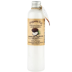 Organic Tai Pure Extra Virgin Oil Coconut - Чистое базовое масло кокоса холодного отжима, 260 мл