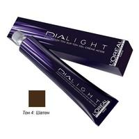 LOreal Professionnel Dialight - Краска для волос Диалайт 4 Шатен 50 млLOreal Professionnel Dialight - Краска для волос Диалайт 4 Шатен 50 мл купить по низкой цене с доставкой по Москве и регионам в интернет-магазине ProfessionalHair.<br>