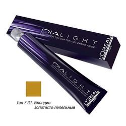 L'Oreal Professionnel Dialight - Краска для волос Диалайт 7.31 Блондин золотисто-пепельный 50 мл