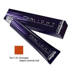L'Oreal Professionnel Dialight - Краска для волос Диалайт 7.43 Блондин медно-золотистый 50 мл