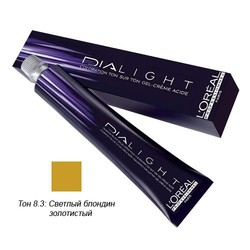 L'Oreal Professionnel Dialight - Краска для волос Диалайт 8.3 Светлый блондин золотистый 50 мл
