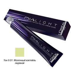 L'Oreal Professionnel Dialight - Краска для волос Диалайт 9.01 Молочный коктейль ледяной 50 мл
