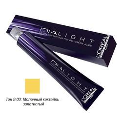 L'Oreal Professionnel Dialight - Краска для волос Диалайт 9.03 Молочный коктейль золотистый 50 мл