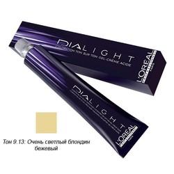 L'Oreal Professionnel Dialight - Краска для волос Диалайт 9.13 Очень светлый блондин бежевый 50 мл