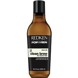 Redken Clean Brew Dark Ale for Coarse Hair - Экстра-очищающий шампунь для плотных волос, 250 мл