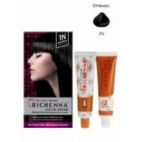 Richenna Color Cream 1 n - Крем-краска для волос с хной, натуральный черныйRichenna Color Cream 1 n - Крем-краска для волос с хной, натуральный черный  купить по низкой цене с доставкой по Москве и регионам в интернет-магазине ProfessionalHair.<br>