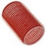 Sibel, 4124049 - Бигуди на липучке красные 36 мм, 12 шт