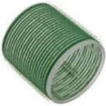 Sibel, 4166549 - Бигуди на липучке зеленые 61мм, 6 шт